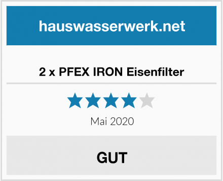 2 x PFEX IRON Eisenfilter Test