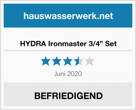 "HYDRA Ironmaster 3/4"" Set Test"