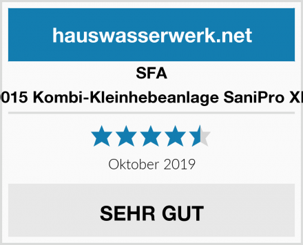 SFA 0015 Kombi-Kleinhebeanlage SaniPro XR Test