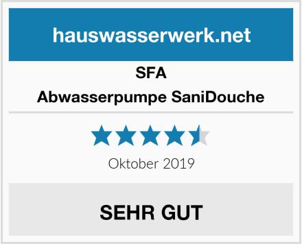 SFA Abwasserpumpe SaniDouche Test