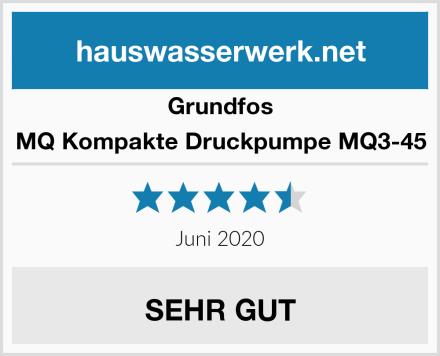 Grundfos MQ Kompakte Druckpumpe MQ3-45 Test