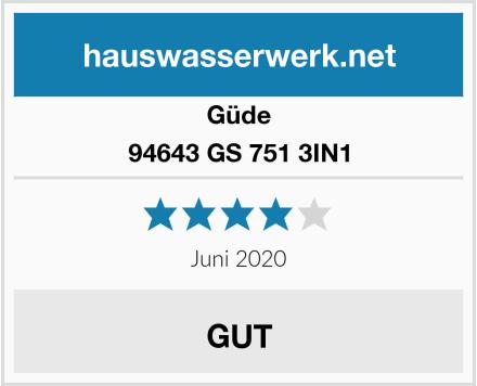 Güde 94643 GS 751 3IN1 Test