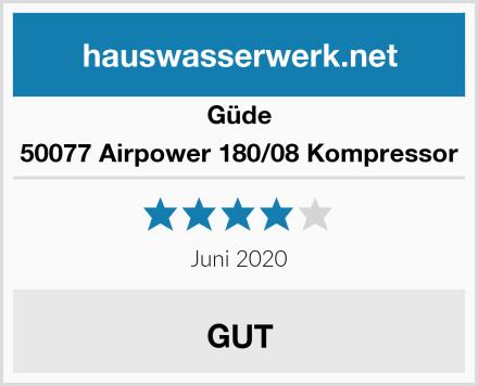 Güde 50077 Airpower 180/08 Kompressor Test