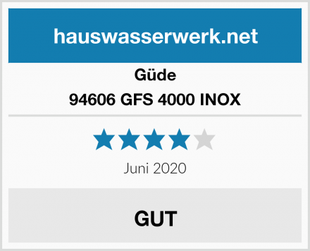 Güde 94606 GFS 4000 INOX Test