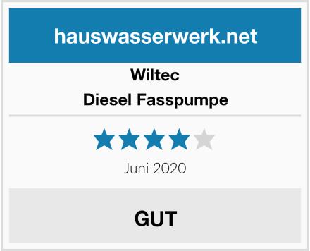 Wiltec Diesel Fasspumpe Test