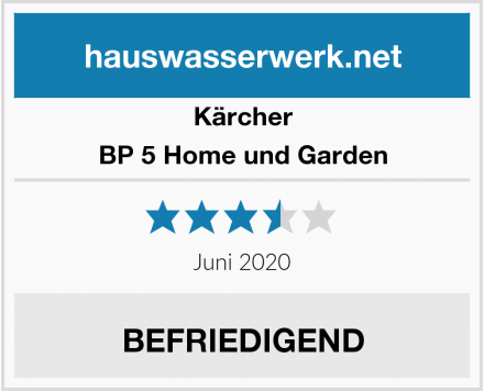 Kärcher BP 5 Home und Garden Test