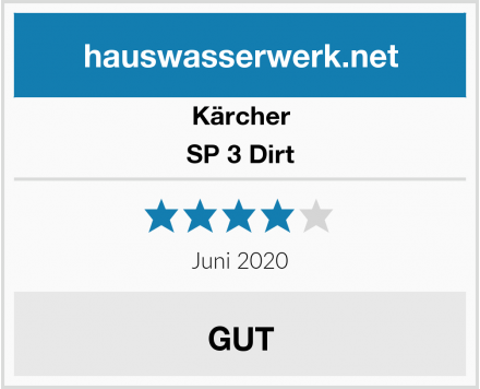 Kärcher SP 3 Dirt Test
