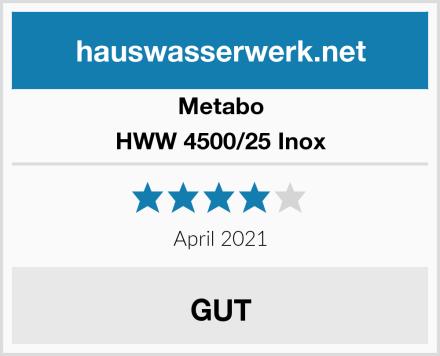 Metabo HWW 4500/25 Inox Test