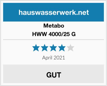 Metabo HWW 4000/25 G Test