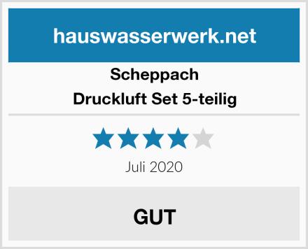 Scheppach Druckluft Set 5-teilig Test