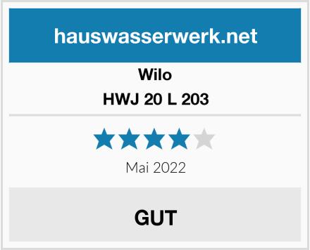 Wilo HWJ 20 L 203 Test