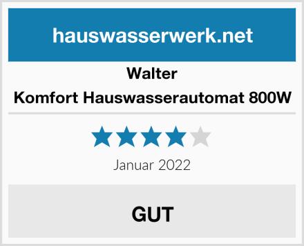Walter Komfort Hauswasserautomat 800W Test