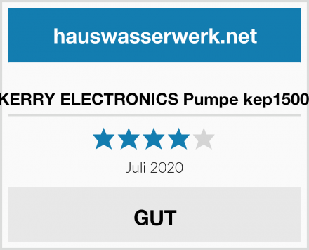 KERRY ELECTRONICS Pumpe kep1500l Test