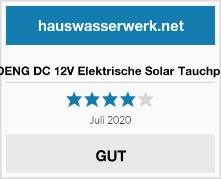 BACOENG DC 12V Elektrische Solar Tauchpumpe Test