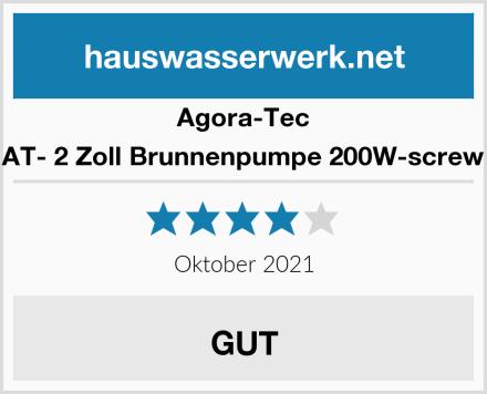 Agora-Tec AT- 2 Zoll Brunnenpumpe 200W-screw Test