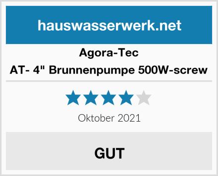 "Agora-Tec AT- 4"" Brunnenpumpe 500W-screw Test"