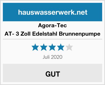 Agora-Tec AT- 3 Zoll Edelstahl Brunnenpumpe Test