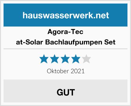 Agora-Tec at-Solar Bachlaufpumpen Set Test