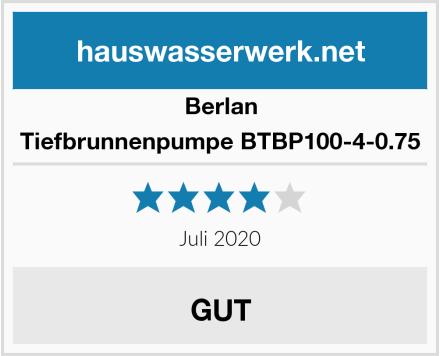 Berlan Tiefbrunnenpumpe BTBP100-4-0.75 Test