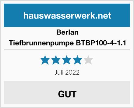 Berlan Tiefbrunnenpumpe BTBP100-4-1.1 Test