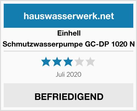 Einhell Schmutzwasserpumpe GC-DP 1020 N Test