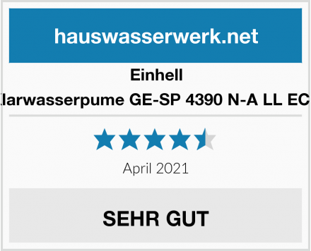 Einhell Klarwasserpume GE-SP 4390 N-A LL ECO Test