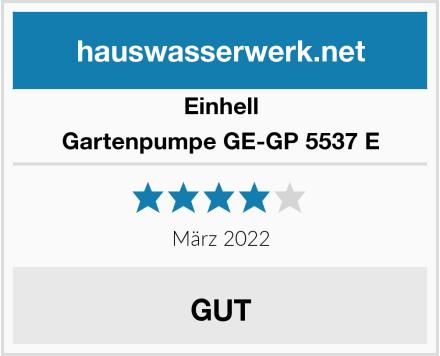 Einhell Gartenpumpe GE-GP 5537 E Test