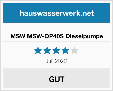MSW MSW-OP40S Dieselpumpe Test