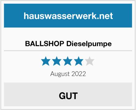 BALLSHOP Dieselpumpe Test