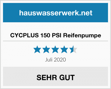 CYCPLUS 150 PSI Reifenpumpe Test