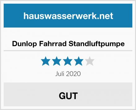 Dunlop Fahrrad Standluftpumpe Test
