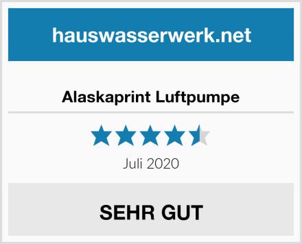 Alaskaprint Luftpumpe Test