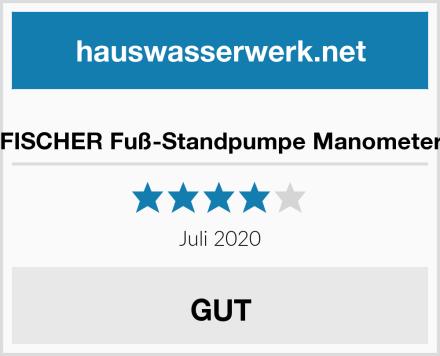 FISCHER Fuß-Standpumpe Manometer Test