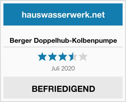 Berger Doppelhub-Kolbenpumpe Test