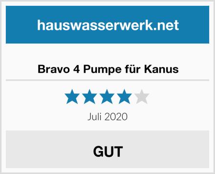 Bravo 4 Pumpe für Kanus Test