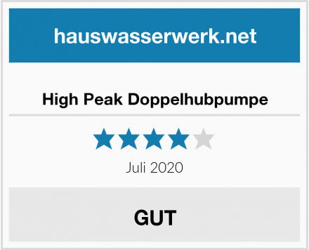 High Peak Doppelhubpumpe Test