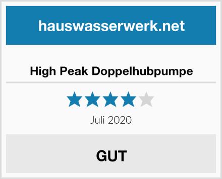 High Peak Doppelhubpumpe Test