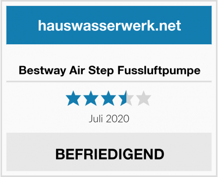 Bestway Air Step Fussluftpumpe Test