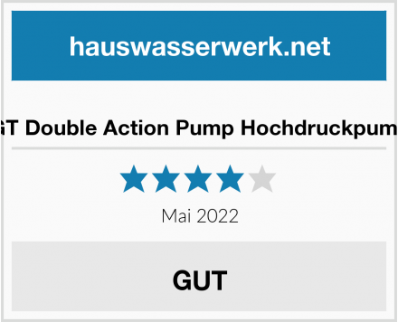 AGT Double Action Pump Hochdruckpumpe Test