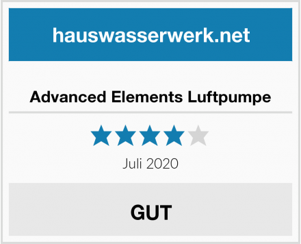 Advanced Elements Luftpumpe Test