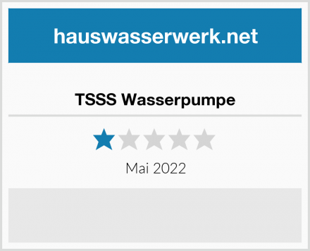 TSSS Wasserpumpe Test