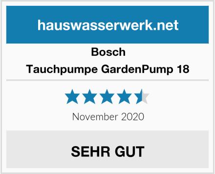 Bosch Tauchpumpe GardenPump 18 Test