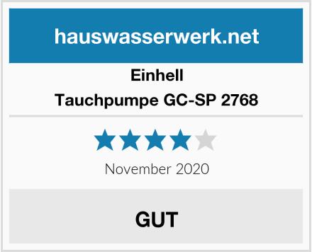Einhell Tauchpumpe GC-SP 2768 Test