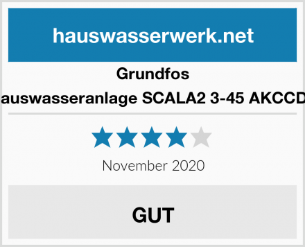 Grundfos Hauswasseranlage SCALA2 3-45 AKCCDE Test