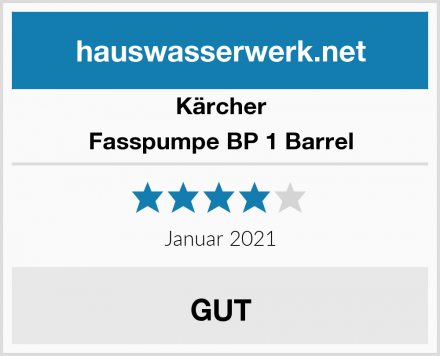 Kärcher Fasspumpe BP 1 Barrel Test