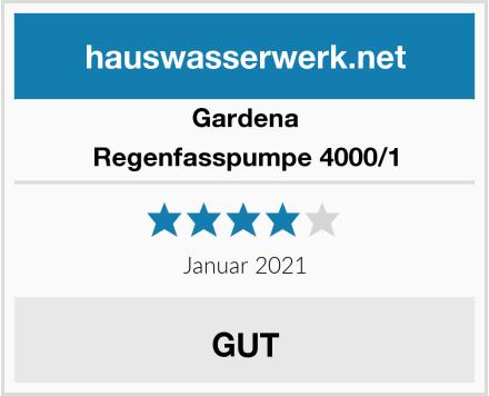 Gardena Regenfasspumpe 4000/1 Test