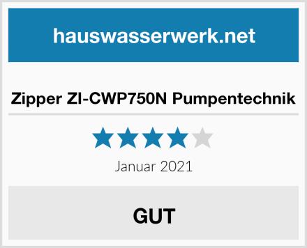 Zipper ZI-CWP750N Pumpentechnik Test
