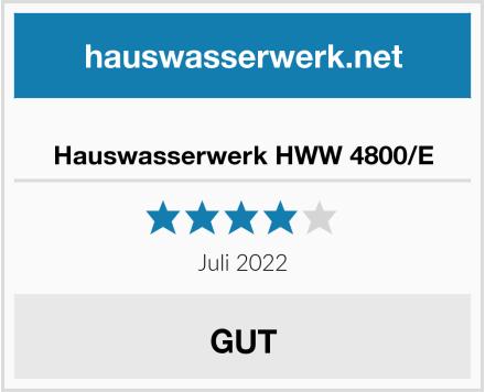 Hauswasserwerk HWW 4800/E Test