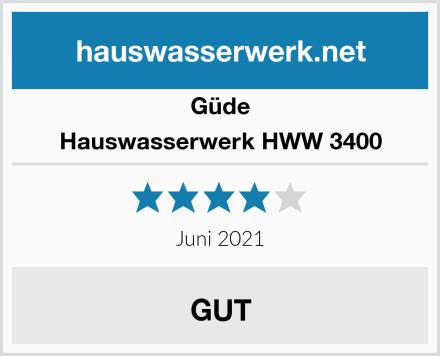 Güde Hauswasserwerk HWW 3400 Test