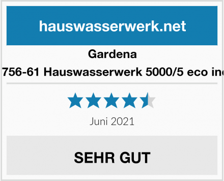 Gardena 01756-61 Hauswasserwerk 5000/5 eco inox Test